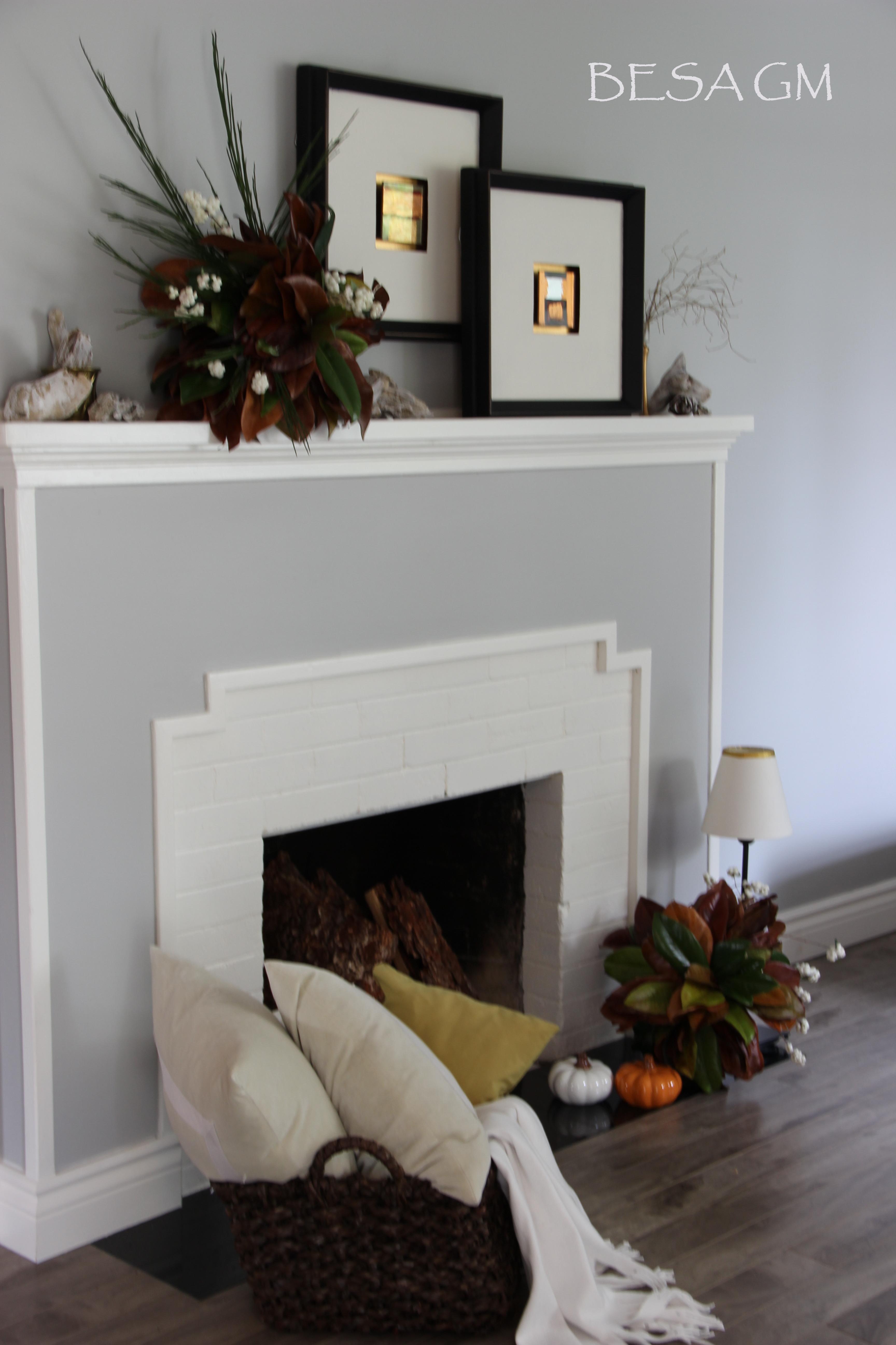 Magnolia Leaf Arrangement For My Fall Mantel Decor | BESA GM