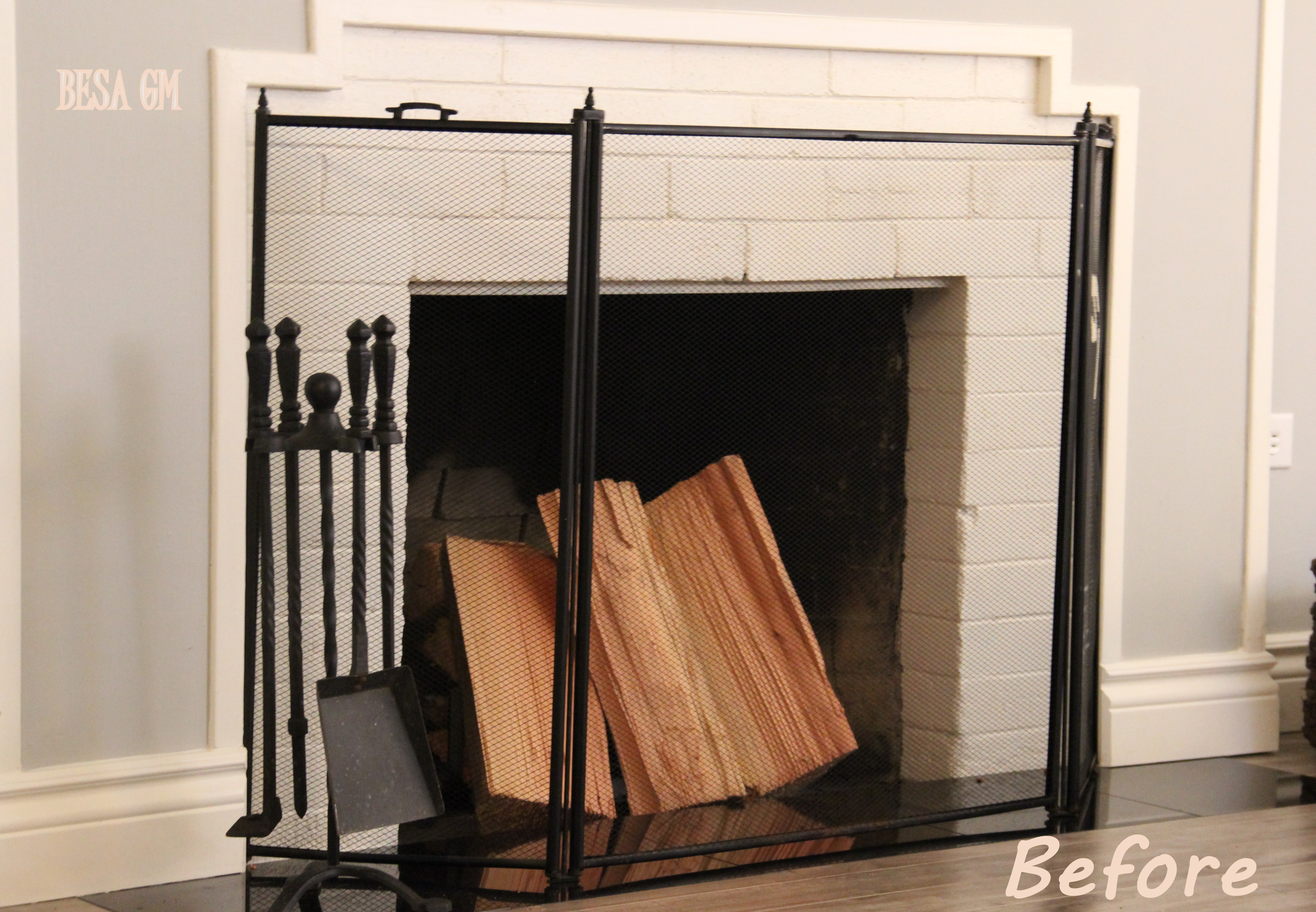 Fireplace Screen Mini Makeover | BESA GM