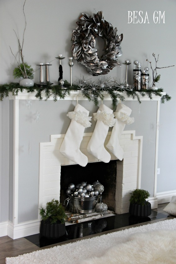 Silver Christmas Wreaths