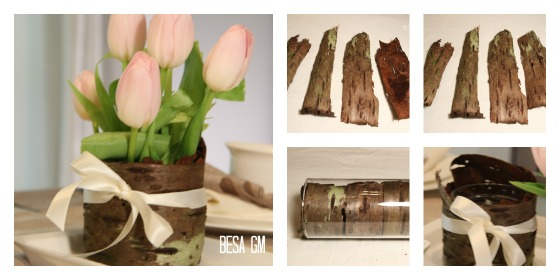 wood vase - Collage