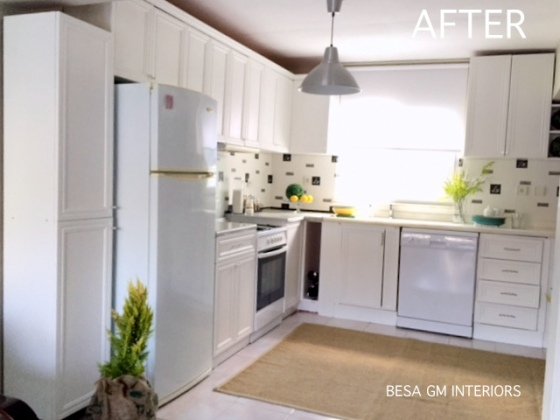 The ugly kitchen makeover project is finally over and i am sure